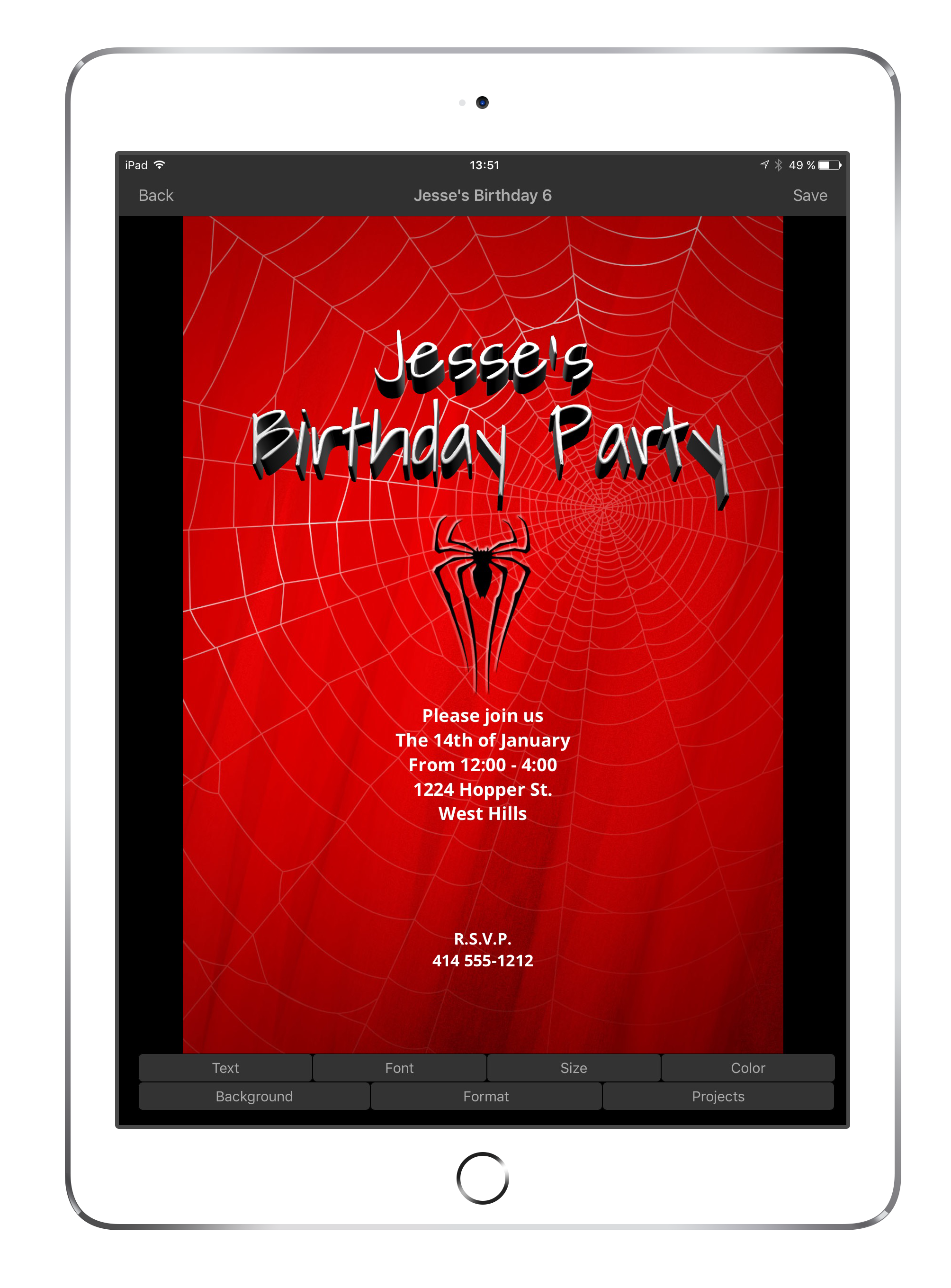Awesome Birthday Invite Maker Crest - Invitations and Announcements ...